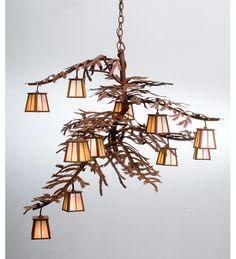 Buy Meyda Tiffany 30126 48 in. W Pine Branch Chandelier at ComfortMarket