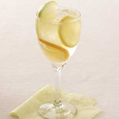 White Sangria Recipe -Fruity, sweet and party-pretty, this light, refreshing beverage from our Test Kitchen goes together in minutes. And guests will find it as welcome as a splash of winter sunshine at your buffet.