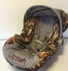 MAX 4 advantage CAMO with gray Infant Car Seat Cover and Canopy with Free Monogram or ChOoSe ANY color by LIZSSTITCHESdotCOM on Etsy https://www.etsy.com/listing/214756692/max-4-advantage-camo-with-gray-infant