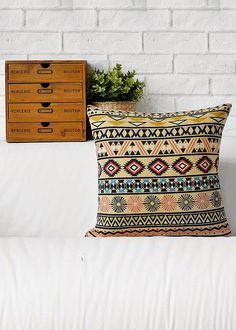 Accent your home with Vintage Black Geometric Throw Pillow. Made from high-quality linen/ cotton fabric, these pillows are durable, enviromentally friendly and very comfortable. Its also being the perfect complement to your couch. Shop now!