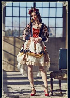 Good Idea for Lolita Snow White>>>My Lolita Dress ( Kawaii Fashion, Lolita Fashion, Visual Kei, Mode Geek, Mode Lolita, Mode Alternative, Cool Outfits, Fashion Outfits, Scene Outfits