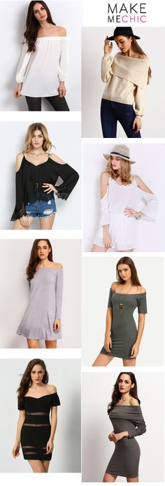 Flattering peplum hems along the top and bottom makes this off the shoulder dress stand out from the rest. Its pretty color goes really well with a brown hat for the beach or with a flower chain crown for a classic Coachella look.