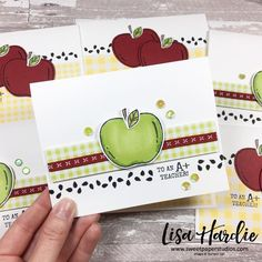 "Lisa Hardie on Instagram: ""I tried to keep my self together when we dropped off our youngest for his last day of daycare yesterday, but I failed miserably! LOL! I did…"" Teacher Thank You Cards, Teacher Gifts, Thanksgiving Cards, Fall Cards, Catalogue, Scrapbook Cards, Homemade Cards, Stampin Up Cards, Cardmaking"