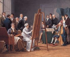 Studio Scene Marie-Gabrielle Capet (French, Oil on canvas. The studio is the atelier of Adelaide-Labille Guiard, later Madame Vincent. Capet painted this. English Artists, Australian Artists, French Artists, American Artists, Jane Austen, Francisco Goya, Manet, Jean Antoine Watteau, Louise Bourgeois