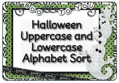 """FREE Halloween Uppercase and Lowercase Alphabet Sort"" - Pinned by @PediaStaff – Please Visit http://ht.ly/63sNt for all our pediatric therapy pins"