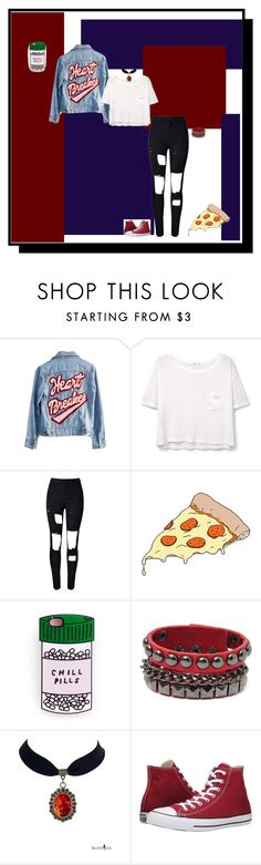 """Untitled #202"" by deboraoliveira-1 ❤ liked on Polyvore featuring High Heels Suicide, MANGO, WithChic, Tattly and Converse"