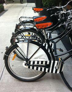 The Mark Hotel's custom bikes in a row - a Tablet Hotel