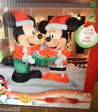 12000 ebay disney santa mickey mouse minnie mouse christmas airblown inflatable gemmy - Disney Inflatable Christmas Decorations