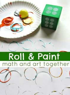 Roll the dice and print the number of shapes you roll. Can use Easter eggs or toilet rolls.