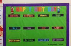 #cricutintheclassroom #imaginativeteacher #teacherswhocricut Student Birthdays, Classroom Birthday, January February March April, Classroom Organisation, Cricut, Teacher, How To Plan, Paper, Professor