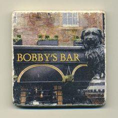 Bobby's Bar  Edinburgh Scotland  Original Coaster by re4mado, $14.99