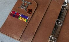 Creating John Winchester's Journal. Working on the hand stitching.  #SPN, #Supernatural