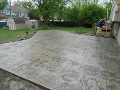 Flagstone Stamped Driveway   All American Decorative Concrete   Chicago    Picasa Web Albums | Concrete Craft Of Chicago | Pinterest | Flagstone,  Concrete ...
