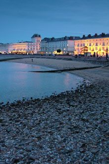 Llandudno beach front. A nice old fashioned promenade. A sleepy town with a quaint Lewis Carroll museum.