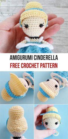 Amigurumi Cinderella [Free Crochet Pattern] | Patterns Valley