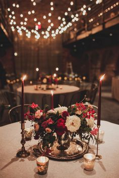 The pillar uprights at the tithe barn in great fosters decorated nyc winter wedding at the foundry junglespirit