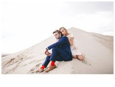Makenna and Aaron Engagements | Sand Dunes | Jessica Janae