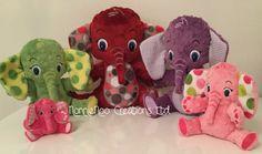 Die Elefantenfamilie  Maschine Stickerei ITH von NonnieNooCreations
