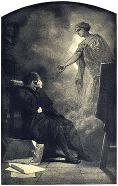 War Cycle: Follow Me Through the Veil of Tears by Artur Grottger, Polish romantic and graphic artist, 1837-1867. Black and white pencil on dark yellow paper. Even with a life cut short by tuberculosis, Grottger is considered one of the prominent Polish painters of the mid 19th century.