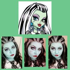 Monster high Frankie face paint