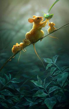 Mäusefamilie