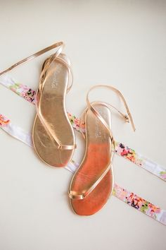 Metallic rose gold sandals: http://www.stylemepretty.com/wisconsin-weddings/middleton-wisconsin/2015/09/14/rustic-romantic-garden-inspired-wisconsin-wedding/ | Photography: Booth Photographics - http://boothphotographics.com/
