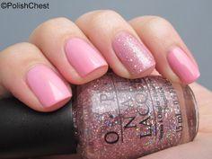 China Glaze - Empowerment  OPI - Teenage Dream (Ring finger overlay)