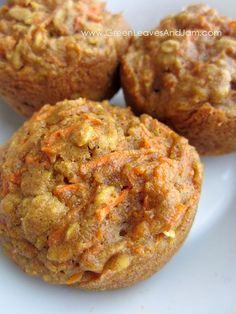 Spiced Carrot Cake Muffins.  Yum. I added a little bit of extra carrot. They are hearty and really pretty decent in terms of nutrition. Made to freeze and send in school lunches! My daughter took one today! :)