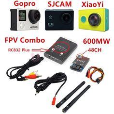 24.90$  Buy now - FPV 5.8Ghz 600mW 48CH Wireless  AV A/V transmitter receiver TS832+RC832 Plus Tx & Rx Set for Professional Drones RC Plane QAV250  #aliexpressideas