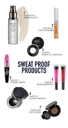 Sweat proof beauty products you have to try.