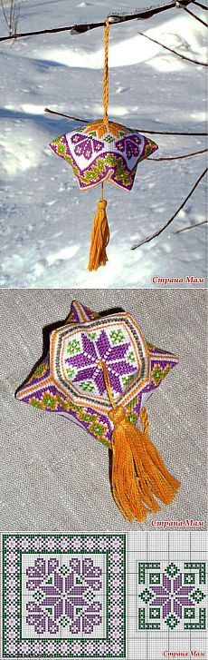 cross-stitch ornaments