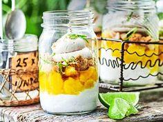 Dark Photography, Food Photography Styling, Food Styling, Trifle Desserts, Salad In A Jar, Summer Picnic, Allrecipes, Mango, Kuchen