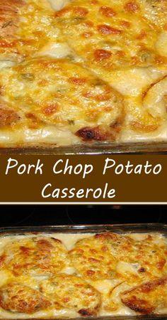 Pork Recipes For Dinner, Entree Recipes, Meat Recipes, Cooking Recipes, Easy Pork Chop Recipes, Dessert Recipes, Pork Chops And Potatoes, Baked Pork Chops, Pork Chops