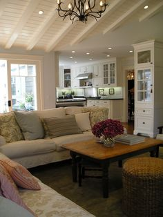 Love this living room from Houzz.  It looks like something you'd find in a small cottage on the coast.