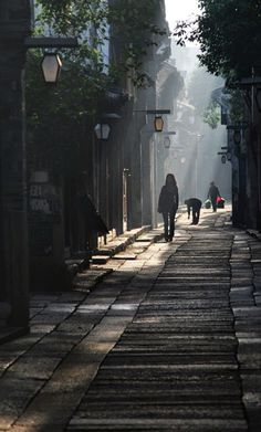 A street in a traditional Chinese town
