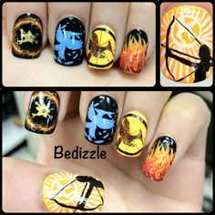 The Hunger Games Nails.  Follow Bedizzle on Instagram!