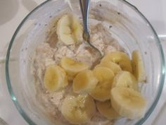 Overnight oats in a jar. Best way to use an almost empty jar of peanut or almond butter.
