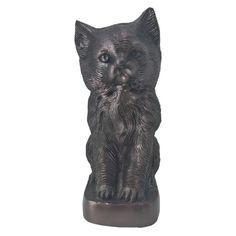 Antique Aluminium Sculpture Pet Urn for Ashes, Cat Memorial Urn * Click image for more details.