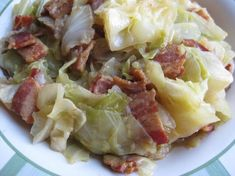 Southern Cooked Cabbage.... I forgot how much I love Cabbage.  Got to try this.