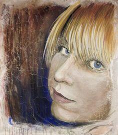 """""""My Botticelli's Girl"""" - Buon fresco painting by iLia Fresco (Anossov) 55""""x55"""""""