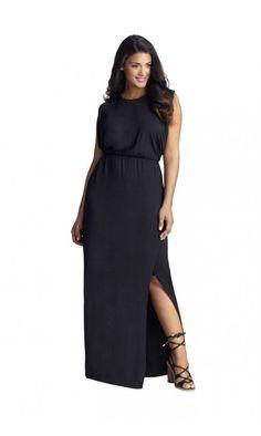 MYNT 1792 Sheer Back Maxi Dress in Black and White Beautiful Maxi Dresses, Plus Size Maxi Dresses, Dress Me Up, Fashion Dresses, Cold Shoulder Dress, Black And White, Fashion Show Dresses, Blanco Y Negro, Black White