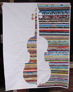 Color & Music: Violin Study - A Four-in-Art Quilt | The Life of Riley | Bloglovin'