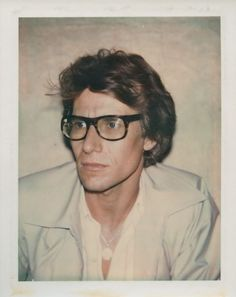 An Andy Warhol polaroid of Yves Saint Laurent from 1972 Ysl, Selfies, Pop Art, Yves Saint Laurent, High Society, Andy Warhol Photography, Art Photography, Fashion Photography, Christian Dior