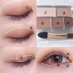 Ultimate Step-by-step Tutorial For Perfect Face Makeup Application - eye makeup tutorial; eye makeup for brown eyes; Ultimate Step-by-step Tutorial For Perfect Face Makeup Application Korean Makeup Look, Korean Makeup Tips, Asian Eye Makeup, Korean Makeup Tutorials, Eye Makeup Steps, Face Makeup, Nerd Makeup, Ulzzang Makeup Tutorial, Beauty Makeup