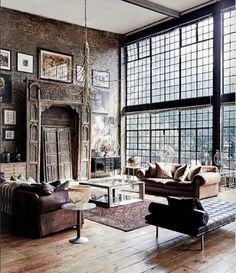 "6,484 Likes, 103 Comments - Ashley Stark Kenner (@ashleytstark) on Instagram: ""A little industrial chic • • • • • #art #interior #interiordesign #architecture #instadecor…"""