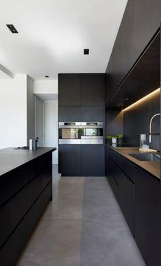 Grey Kitchen Designs, Kitchen Room Design, Kitchen Cabinet Design, Modern Kitchen Design, Home Decor Kitchen, Interior Design Kitchen, Kitchen Ideas, Diy Kitchen, Modern Grey Kitchen