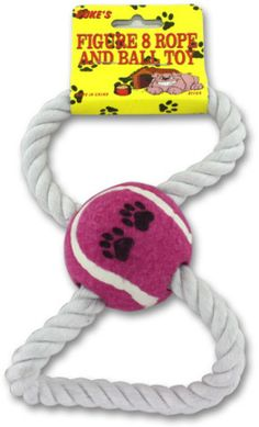 Figure 8 Rope and Ball Dog Toy Case Pack 24