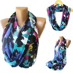 neon colorful infinity scarf  trendscarf girly girl  by seno, $19.00