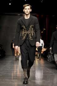 Roccoco trend in mens fashion