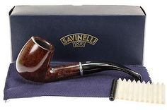 Savinelli-Arcobaleno-606-Brown-Tobacco-Pipe-Smooth